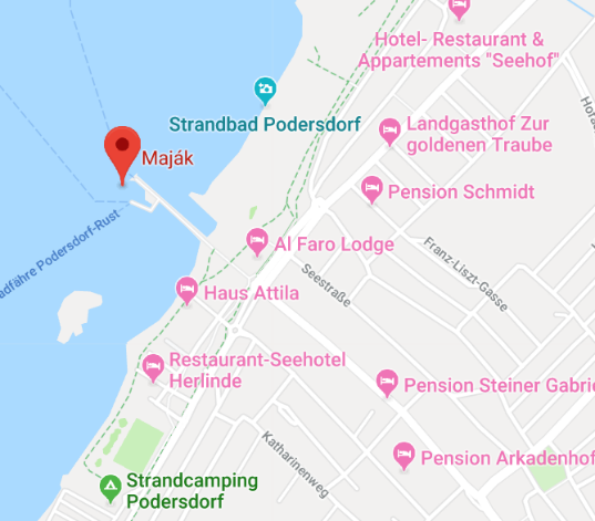 Google mapa Neusieler See