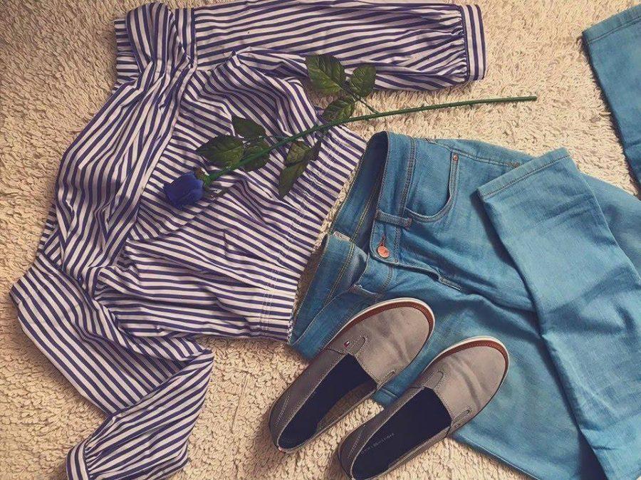 outfit do školy fialový