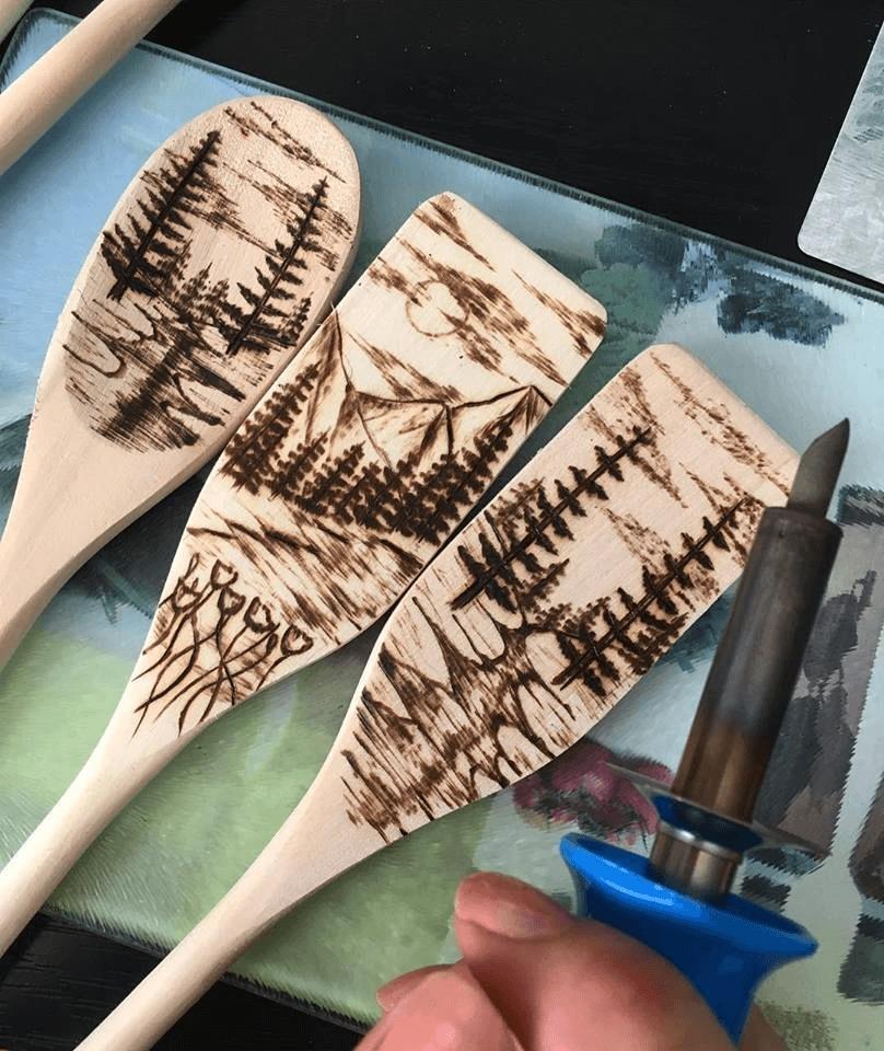 vypaľovanie do dreva varešky