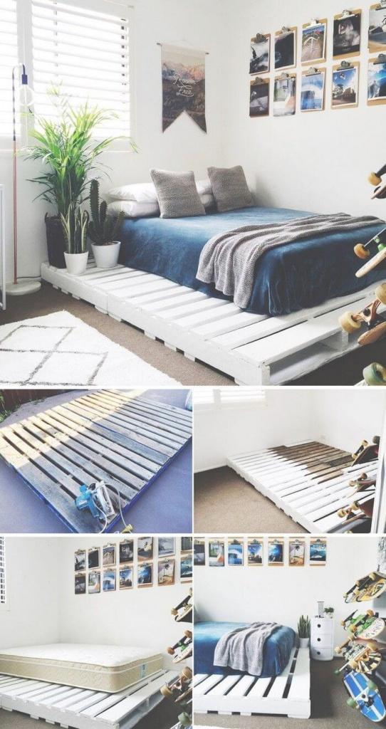 postel z paliet