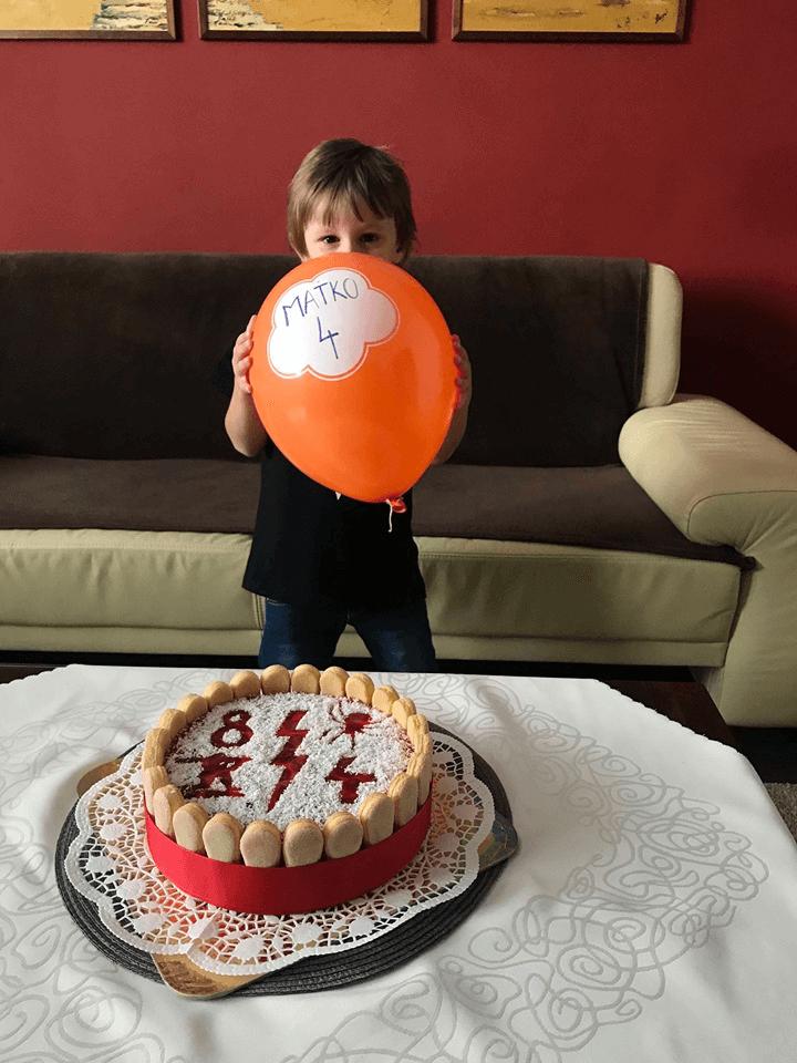 tvarohová torta pre deti