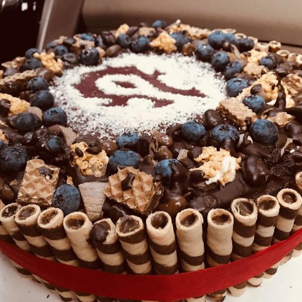 tvarohová torta s ovocím