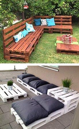 záhradné sedenie z paliet