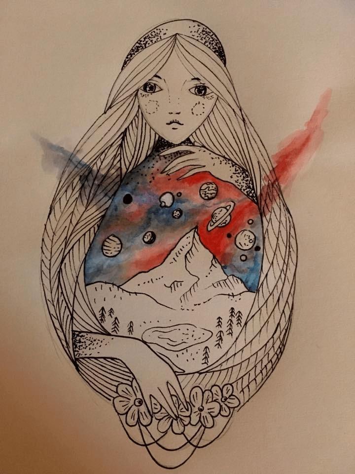 návrh na ženské tetovanie