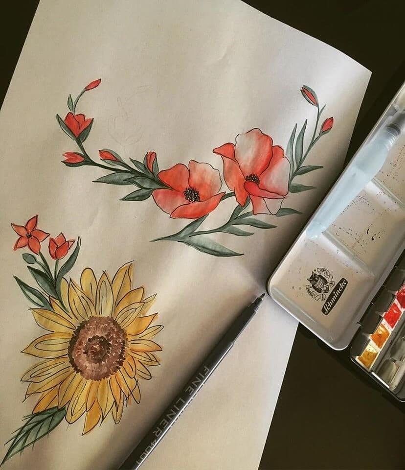 návrh tetovania kreslené