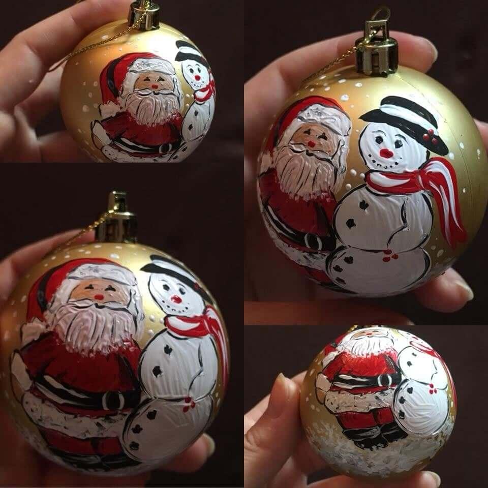 ručné vyrobené vianočné gule
