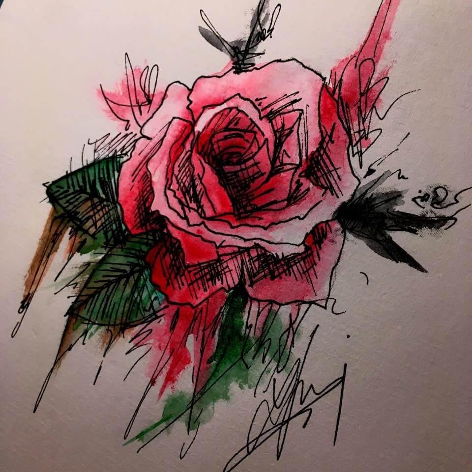 ruža tetovanie