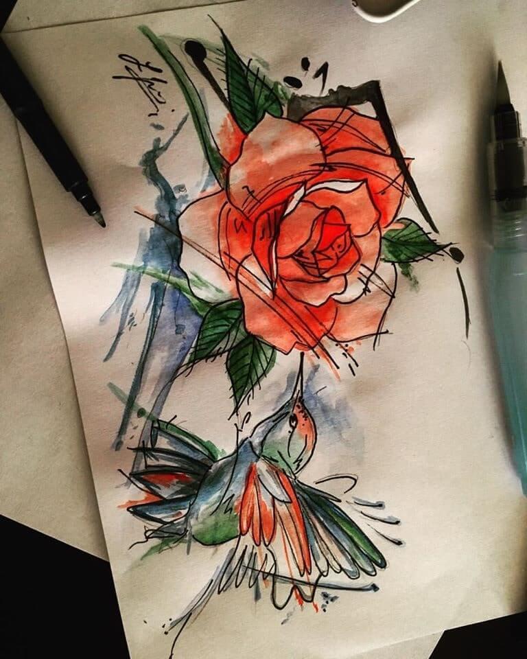 tetovanie kvety