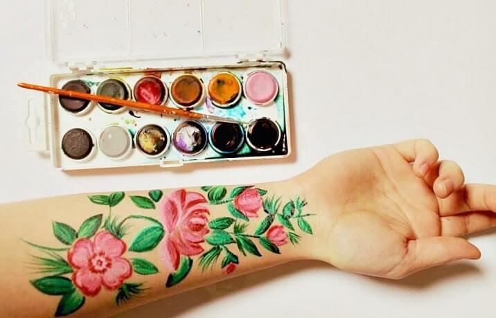 tetovanie na ruku kvety