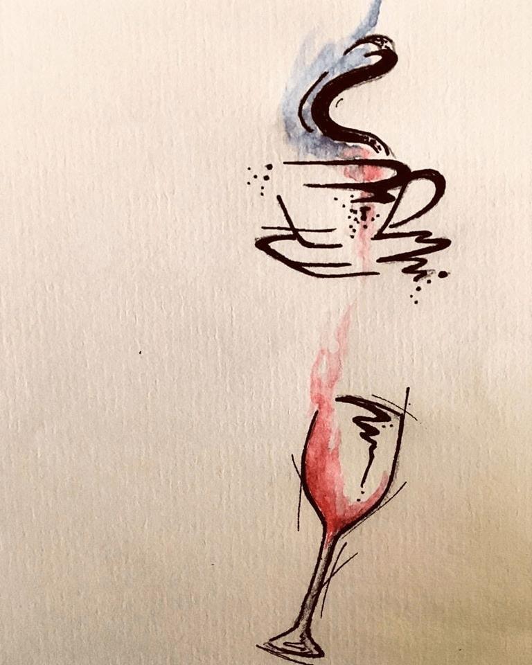 tetovanie víno