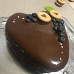 cucoriedkova torta s cokoladovou polevou