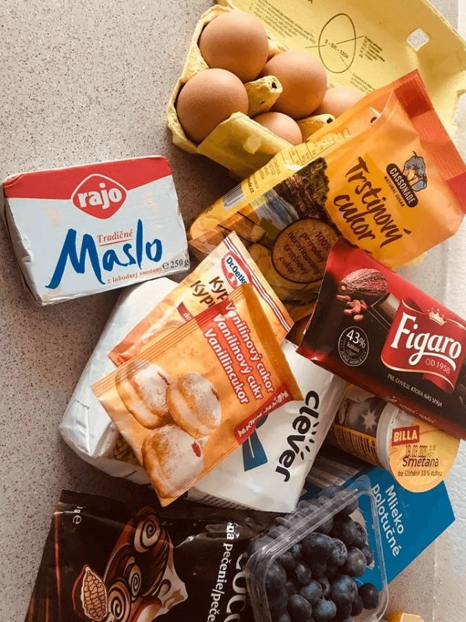 potrebne ingrediencie na pripravu torty
