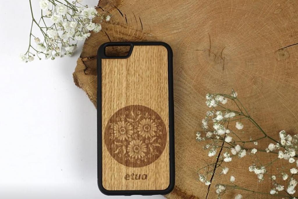drevený kryt na mobil
