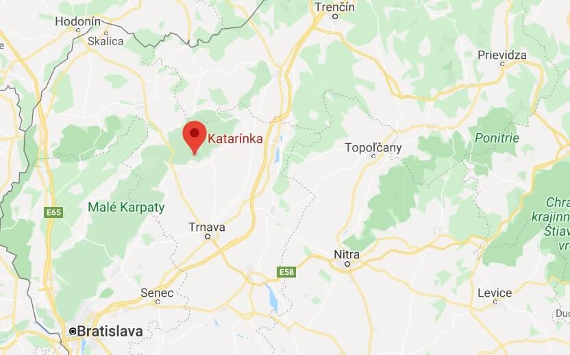 Katarínka mapa