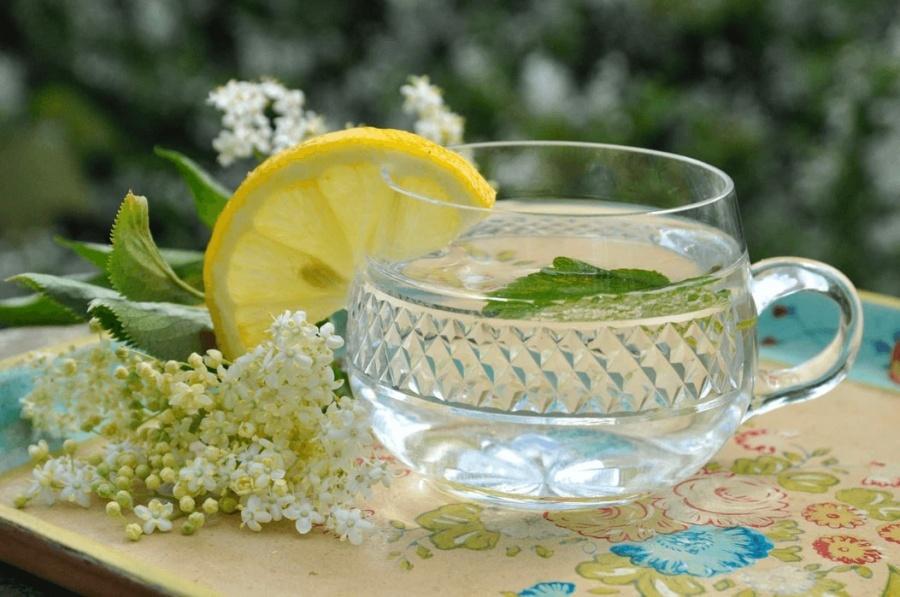 čaj z bazových kvetov